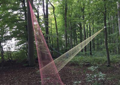 Interim17_Installation: Nandor Angstenberger im Wald